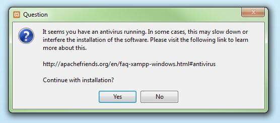 xampp deaktivieren antivierenprogramm